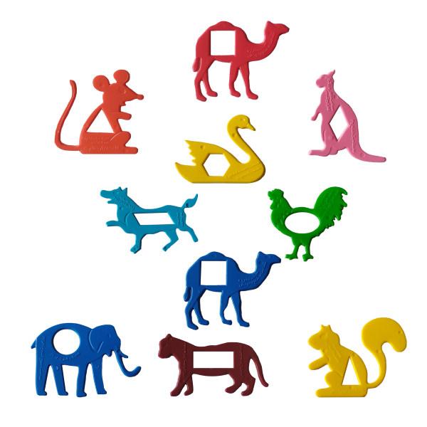 شابلون مدل حیوانات کد G6 مجموعه 40 عددی