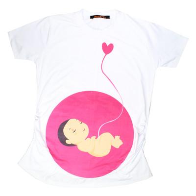 Photo of تی شرت بارداری ایفل طرح بیبی مدل 1279