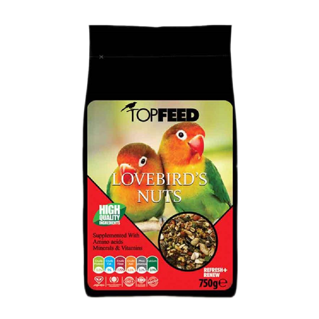 غذای خشک طوطی برزیلی تاپ فید مدل Love Bird Nuts وزن 750 گرم