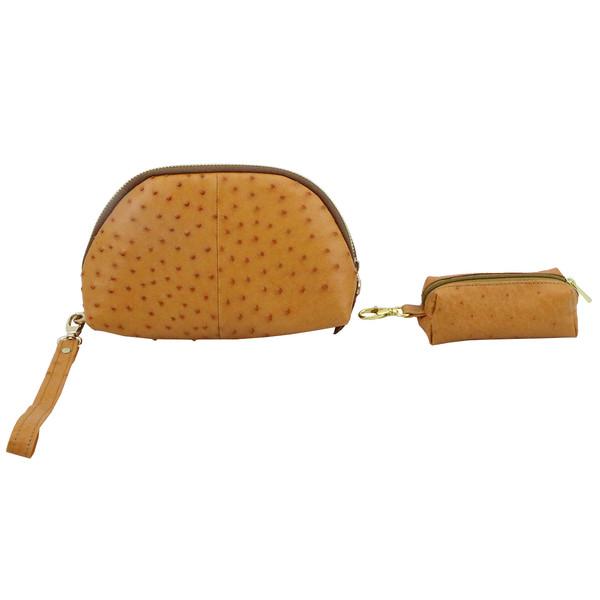 کیف لوازم آرایش زنانه چرم حریر کد 0022 مجموعه 2 عددی