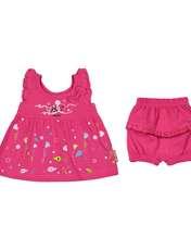ست پیراهن و شورت نوزادی دخترانه مدل 2171111-88 -  - 2