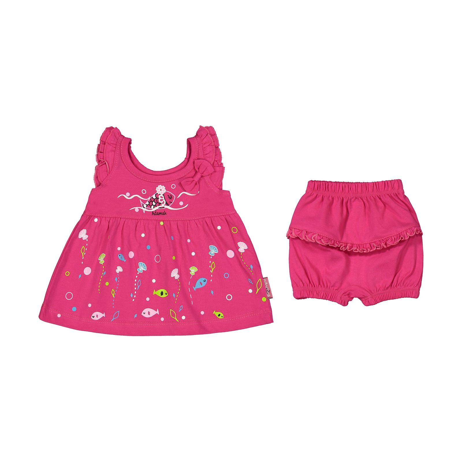 ست پیراهن و شورت نوزادی دخترانه مدل 2171111-88 -  - 3
