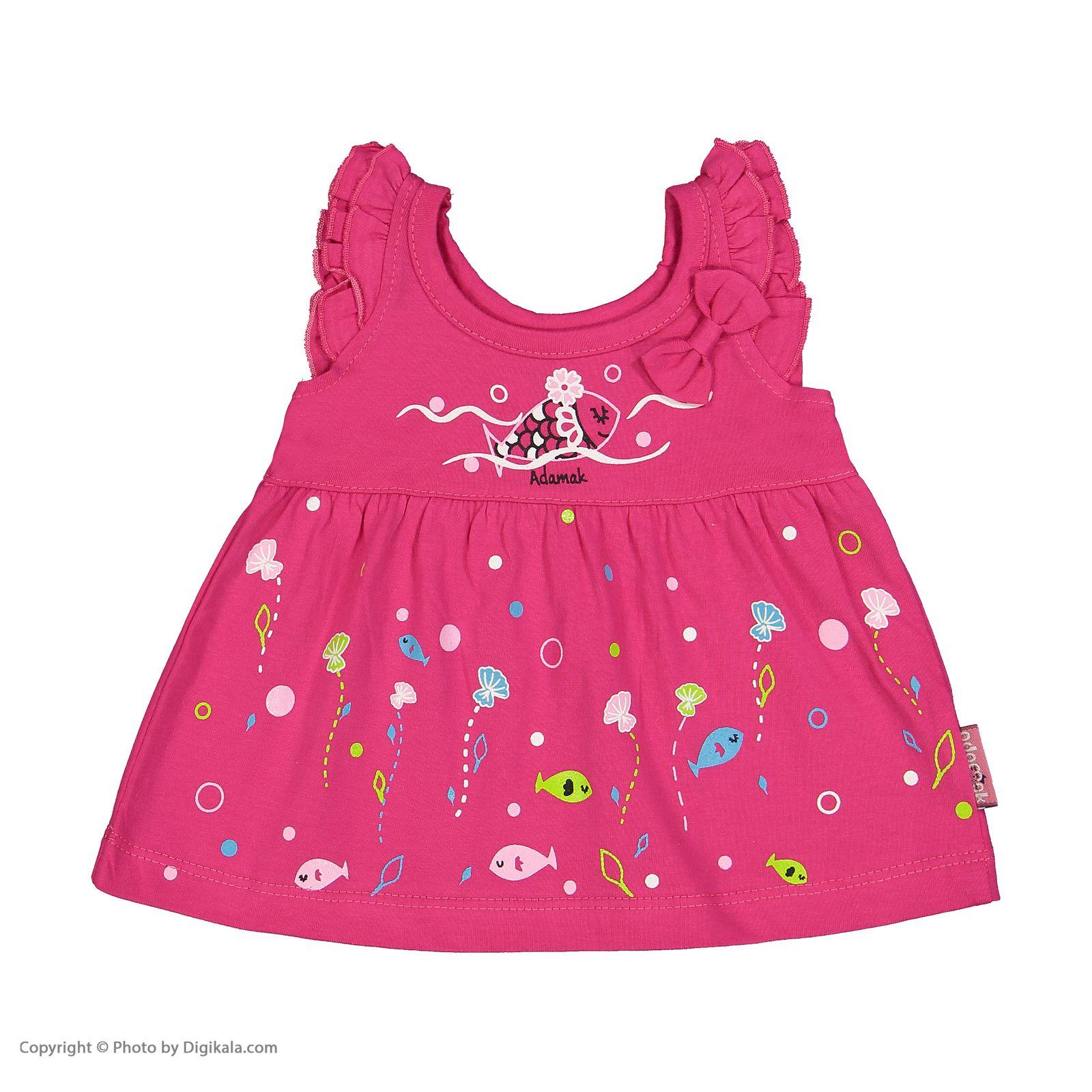 ست پیراهن و شورت نوزادی دخترانه مدل 2171111-88 -  - 5