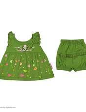 ست پیراهن و شورت نوزادی دخترانه مدل 2171111-42 -  - 2