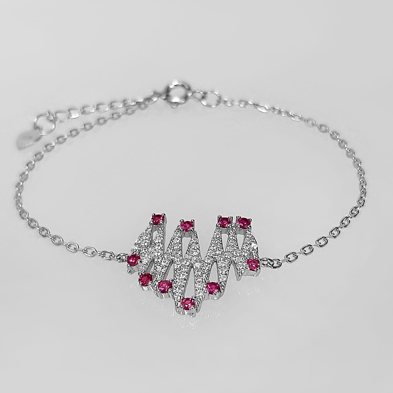 دستبند نقره زنانه اقلیمه کد DN429 -  - 9