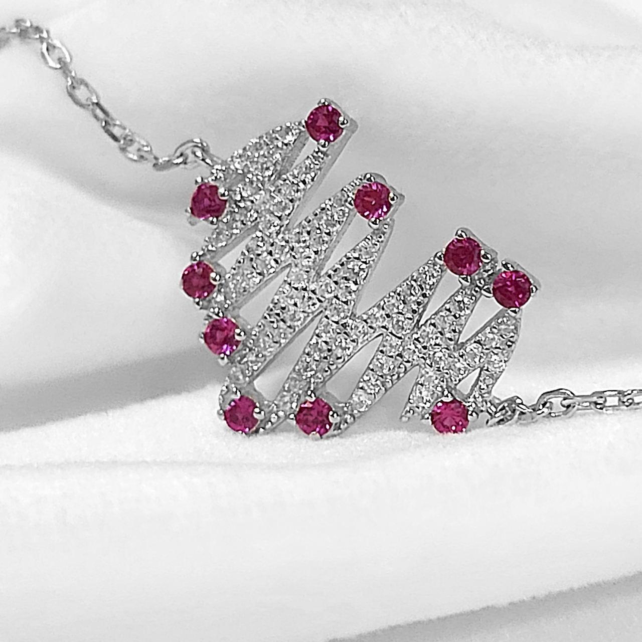 دستبند نقره زنانه اقلیمه کد DN429 -  - 10
