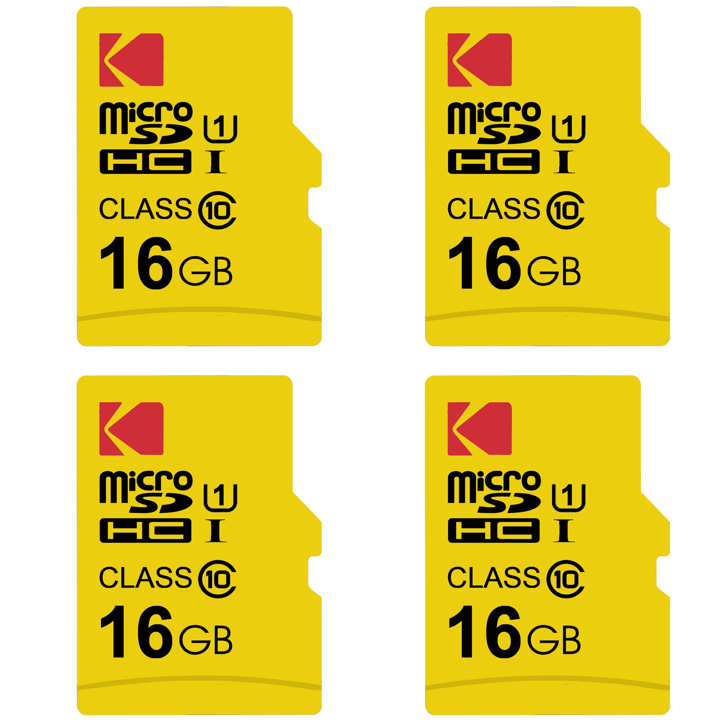 بررسی و {خرید با تخفیف}                                       کارت حافظه microSDHC کداک مدل Premium Performance کلاس 10 استاندارد UHS-I U1 سرعت 85MBps ظرفیت 16 گیگابایت بسته 4 عددی                             اصل