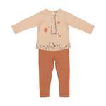 ست تی شرت و شلوار نوزادی دخترانه پیانو مدل 1097-20