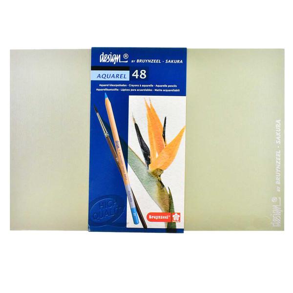 مداد آبرنگی 48 رنگ برونزیل کد 100598