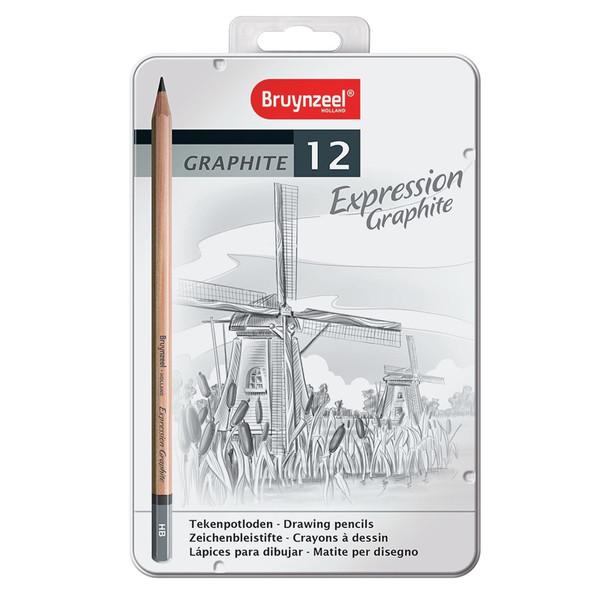 مداد طراحی برونزیل مدل Expression کد 71856 مجموعه 12 عددی