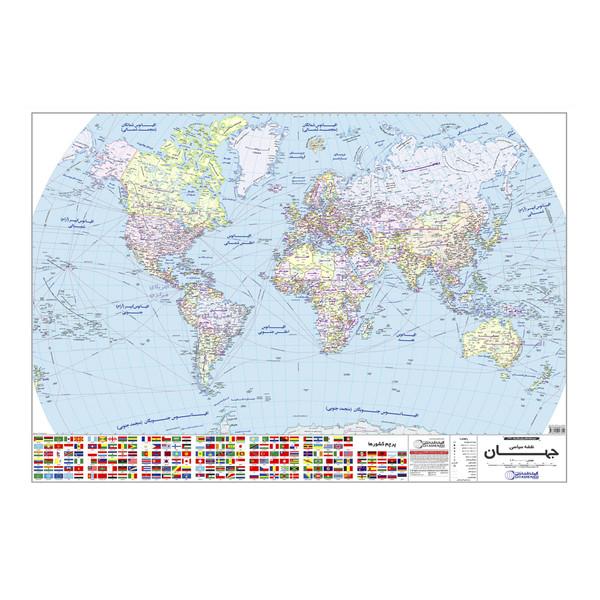 نقشه سیاسی جهان گیتاشناسی کد ۱۲۹۷