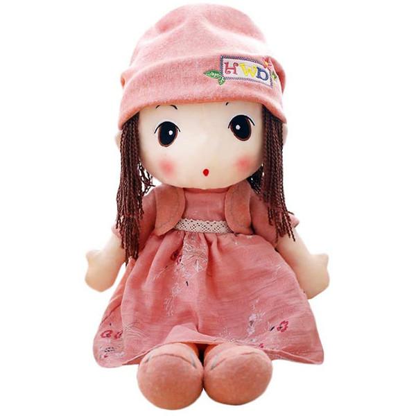 عروسک اچ دبلیو دی طرح دختر پاییزی ارتفاع ۶۰ سانتی متر