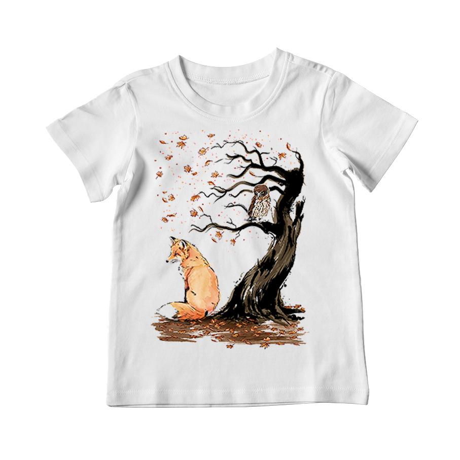 تیشرت بچگانه طرح روباه و درخت کد 031