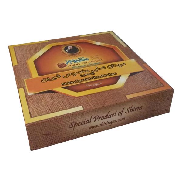 سوهان عسلی لقمه ای گز شیرین - 250 گرم