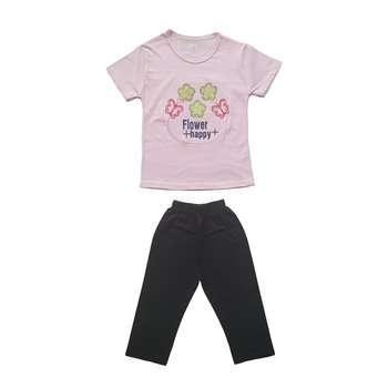 ست تی شرت و شلوارک دخترانه کد S-301