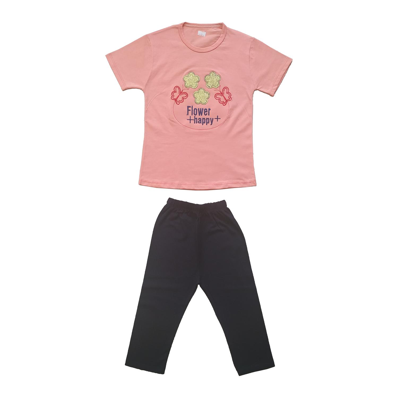 ست تی شرت و شلوارک دخترانه کد SP-301