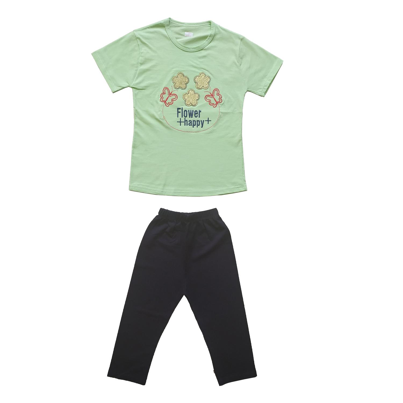 ست تی شرت و شلوارک دخترانه کد C-301