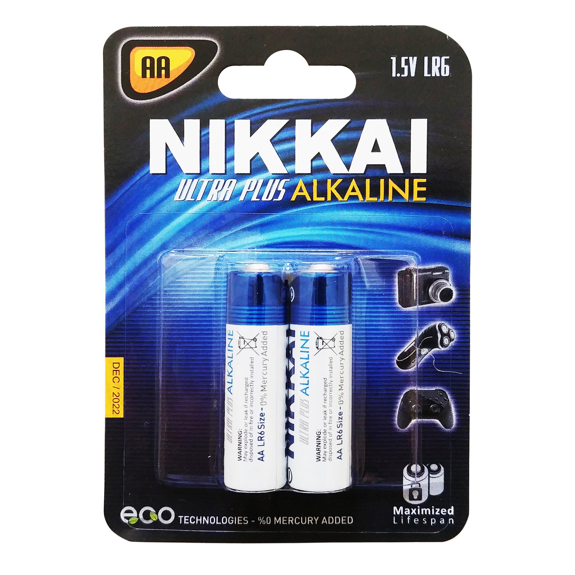 بررسی و {خرید با تخفیف} باتری قلمی نیکای مدل N-Alk2 بسته 2 عددی اصل
