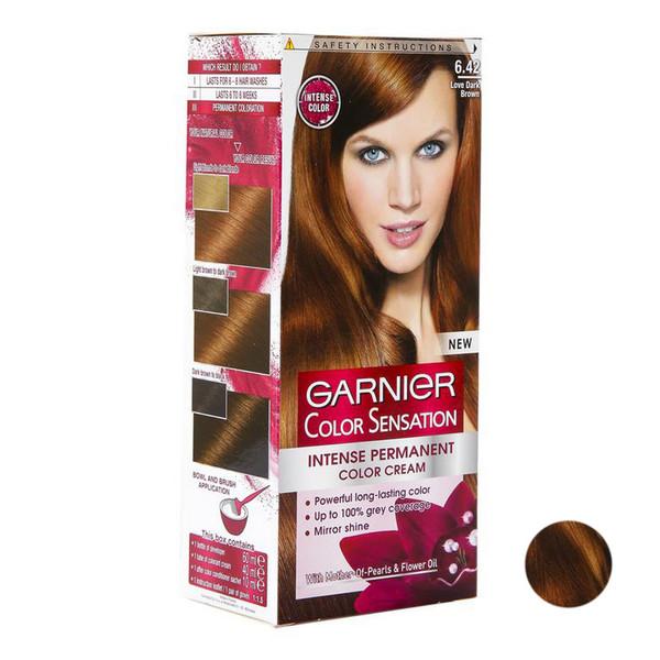 کیت رنگ مو گارنیه سری سنسیشن شماره 6.42 حجم 40 میلی لیتر رنگ مسی تیره