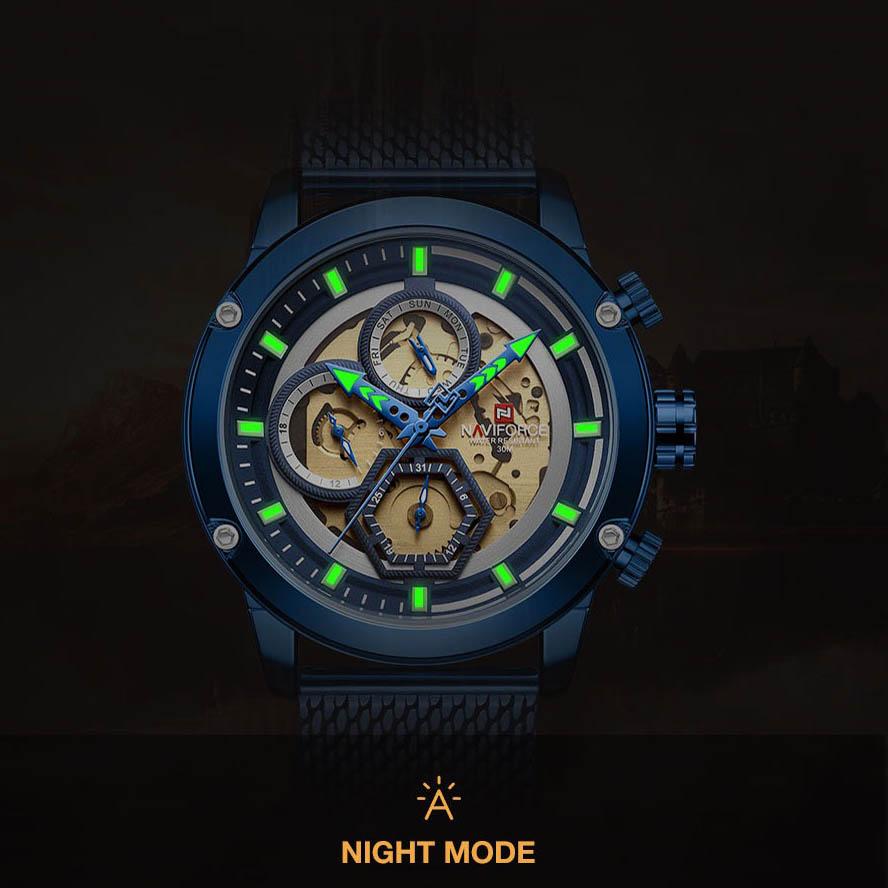 ساعت مردانه نیوی فورس مدل  NF9167 BE