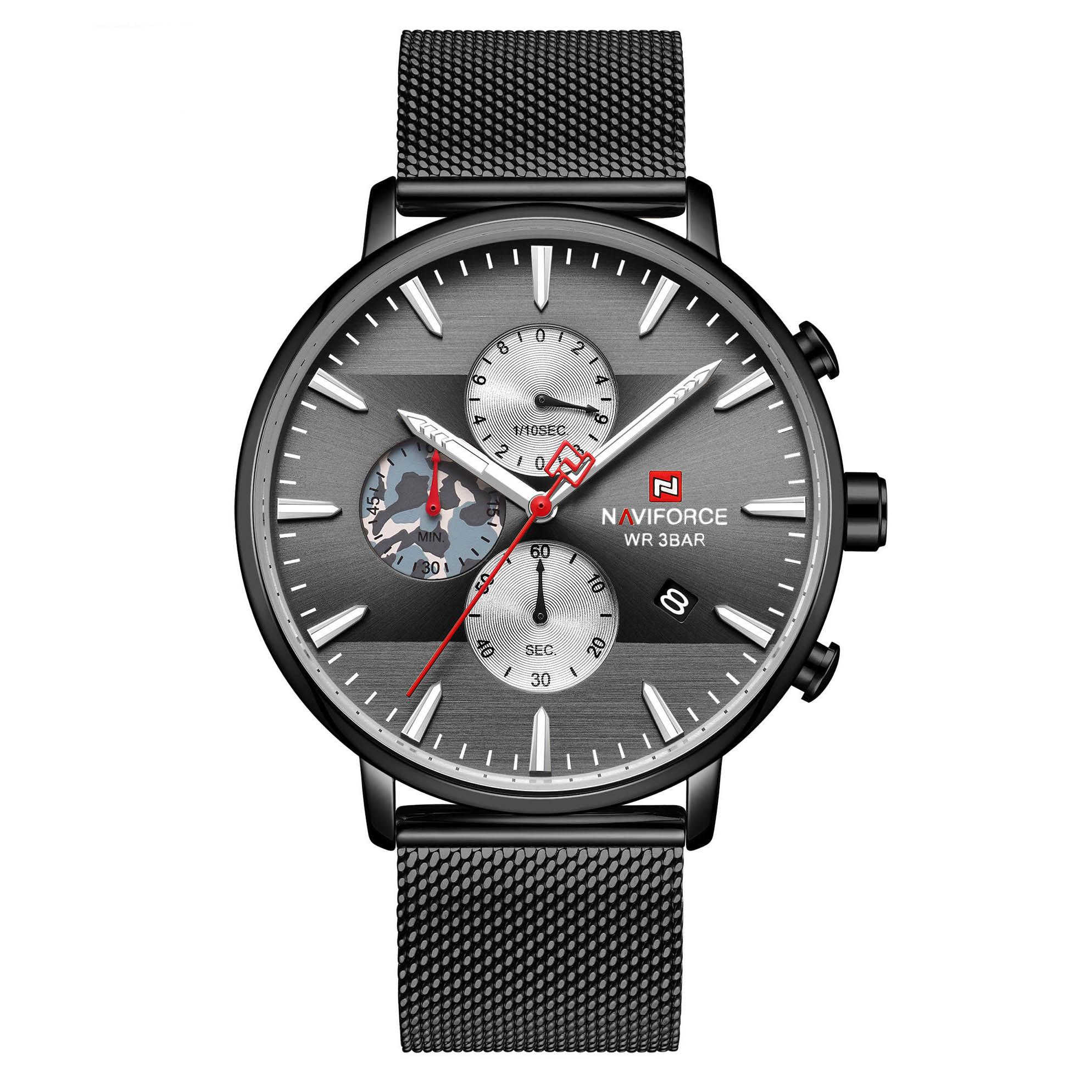 قیمت و خرید                      ساعت مچی عقربه ای مردانه نیوی فورس مدل  NF9169 BB