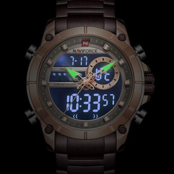 ساعت مچی عقربه ای مردانه نیوی فورس مدل  NF9163 RGCE -  - 6