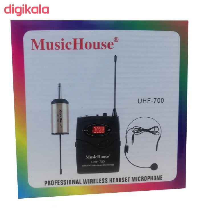 میکروفن بی سیم میوزیک هاوس مدل UHF-700 main 1 2