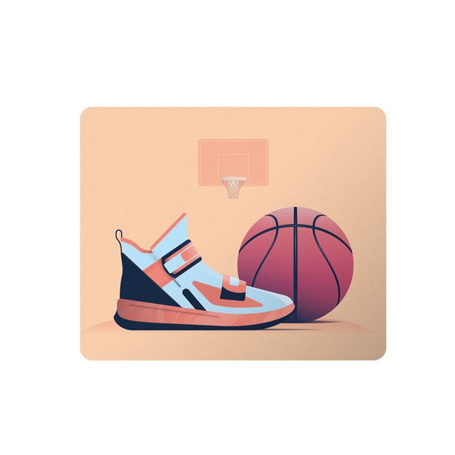 ماوس پد طرح توپ و کفش بسکتبال کد DDS121