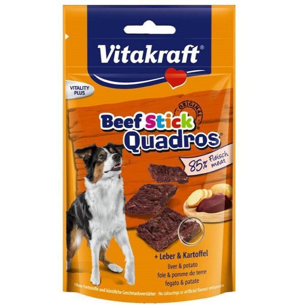 استیک تشویقی سگ ویتاکرافت مدل Quadros کد 28803 وزن 70 گرم بسته 5 عددی