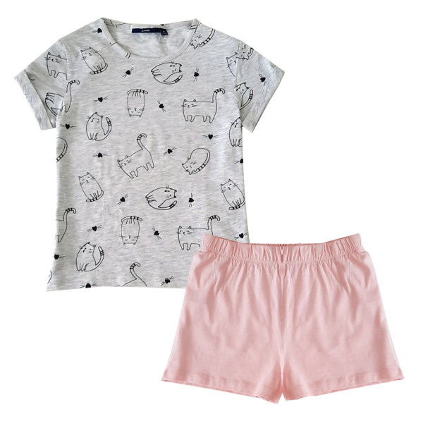 ست تی شرت و شلوارک دخترانه کیابی کد M12