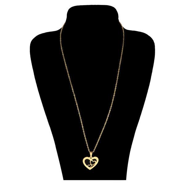 گردنبند نقره زنانه طرح قلب کد UN0064