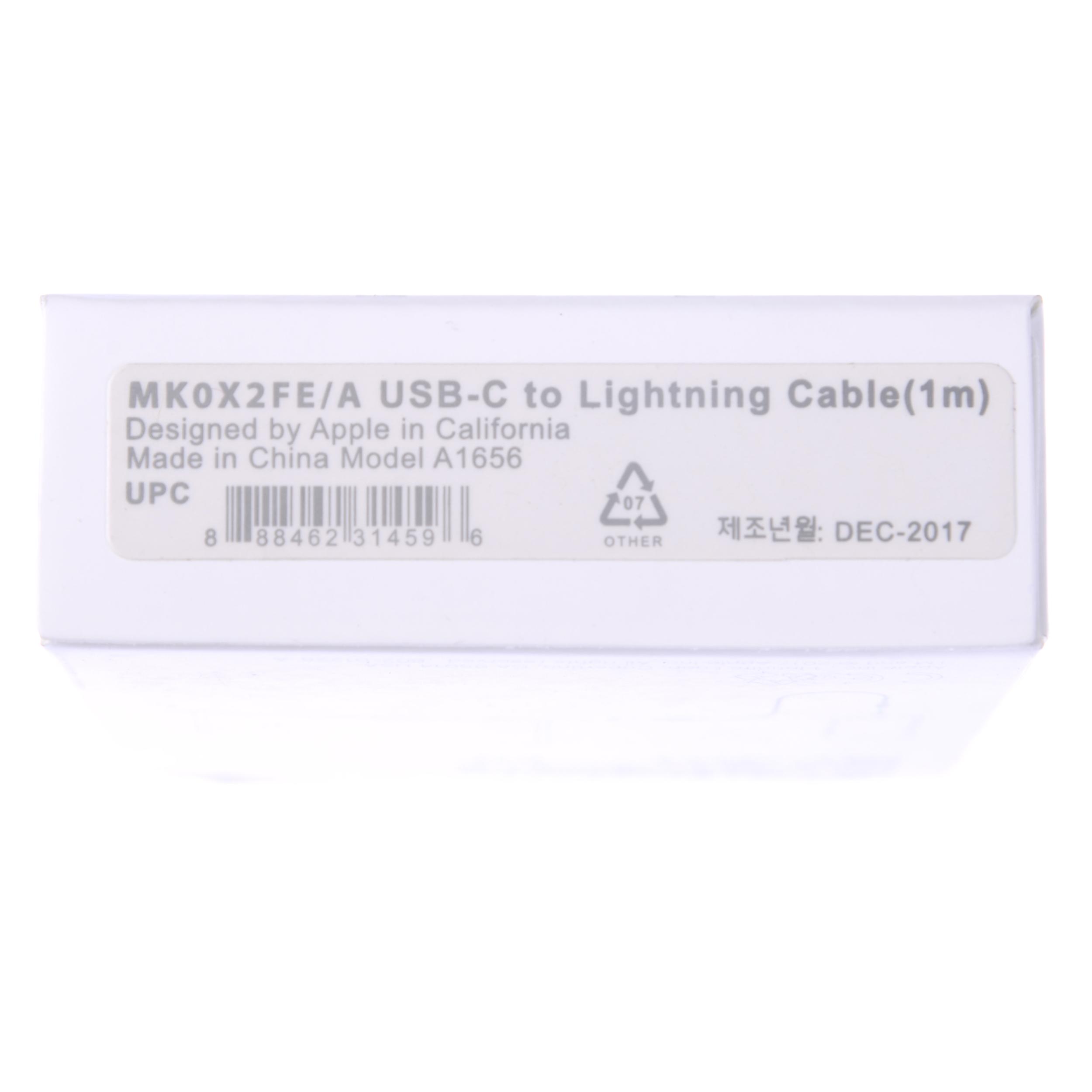 کابل تبدیل USB-C به لایتنینگ مدل MK0X2FE/A A1656 طول 1 متر main 1 4
