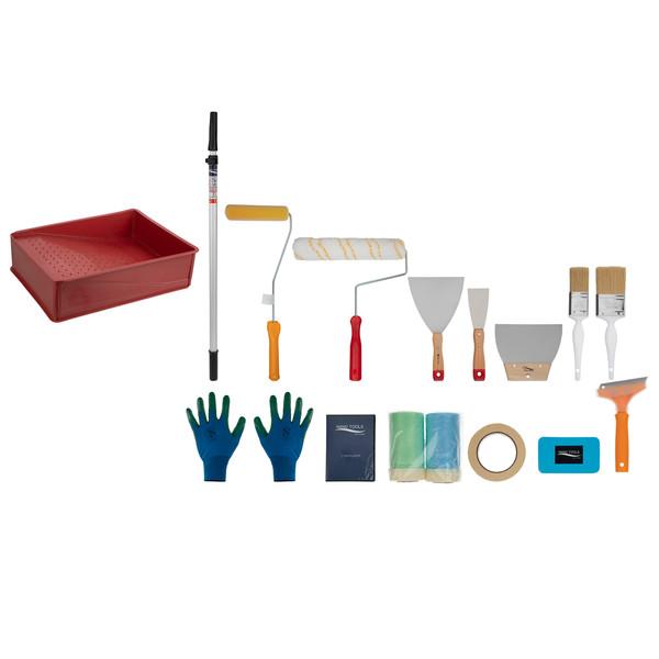 مجموعه 19 عددی ابزار نقاشی ساختمان نانو تولز کد 02