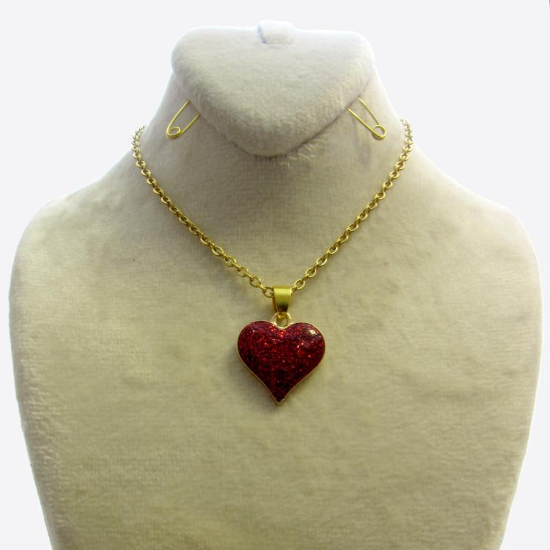 گردنبند دخترانه طرح قلب کد 043