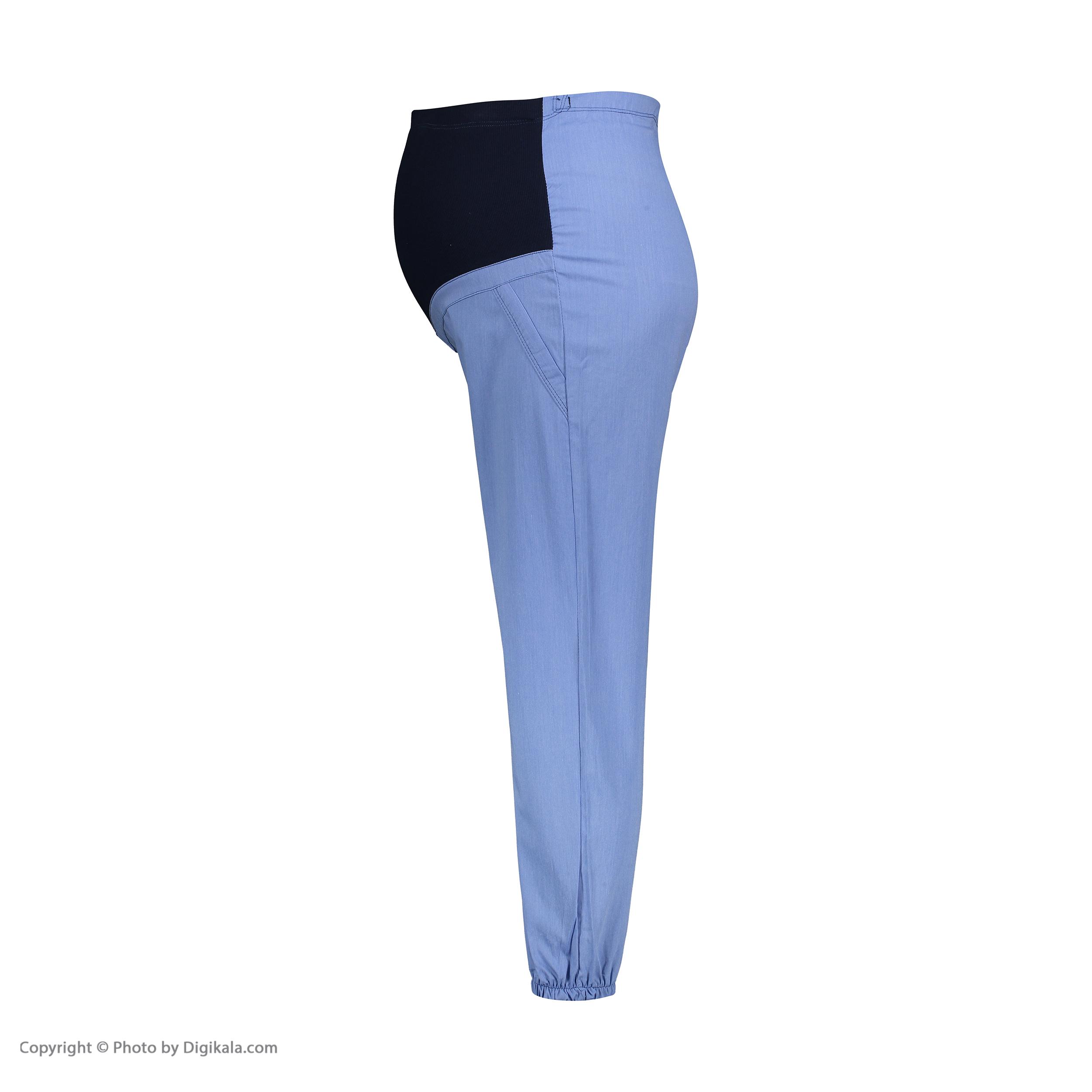 شلوار بارداری کد 00417 رنگ آبی روشن