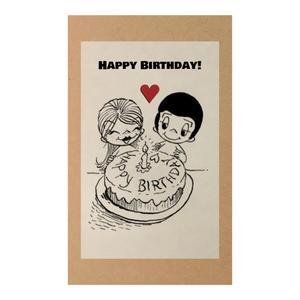 کارت پستال طرح تبریک تولد مدل Happy Birthday کد A126