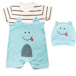 ست سرهمی و کلاه نوزادی طرح لبخند کد Sm02