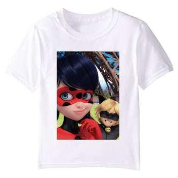 تی شرت بچگانه طرح دختر کفشدوزکی کد TSb24