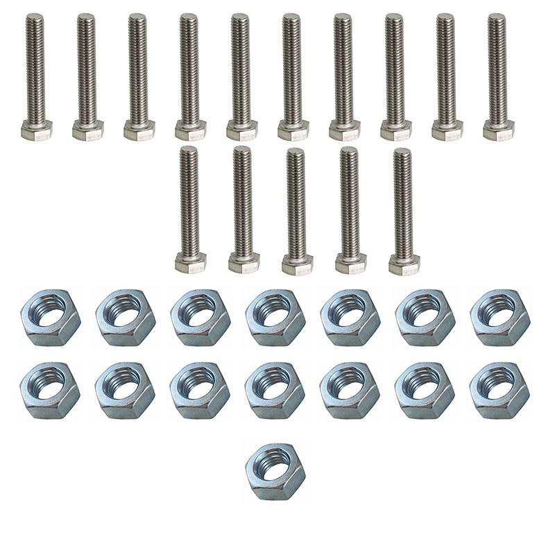 پیچ و مهره مدل BPM10-80مجموعه 30 عددی