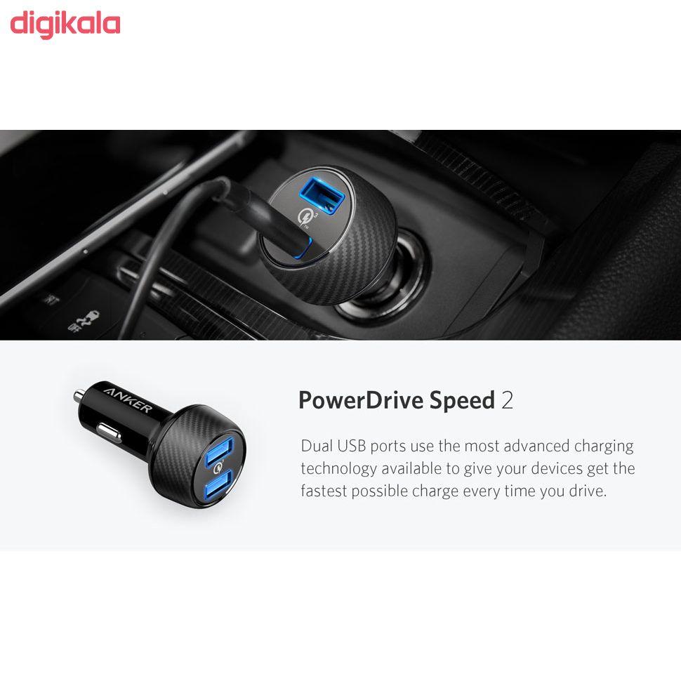 شارژر فندکی انکر مدل A2228 PowerDrive Speed 2 Ports With Quick Charge 3.0 main 1 14
