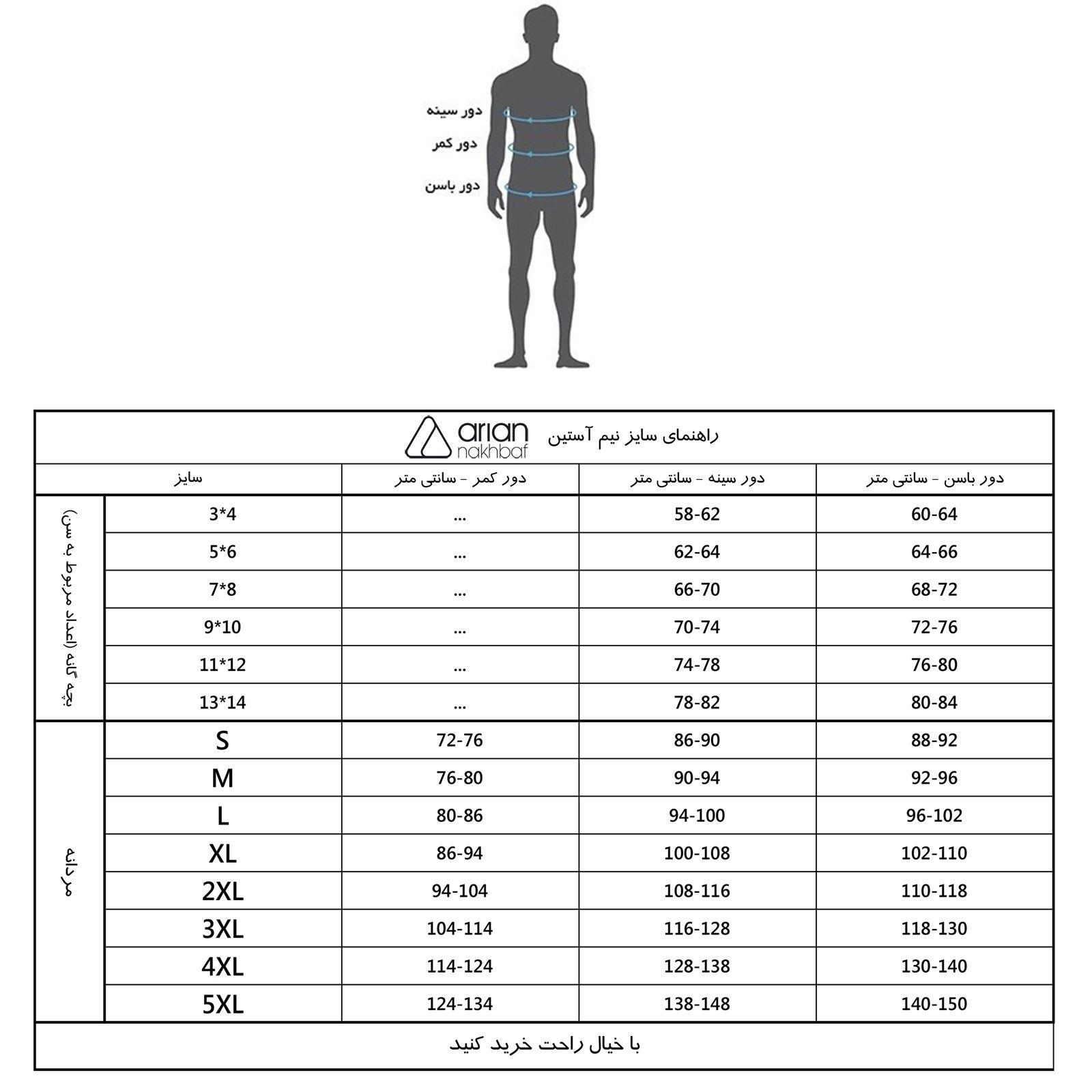 زیرپوش مردانه آریان نخ باف کد 3-1212 بسته 3 عددی main 1 6