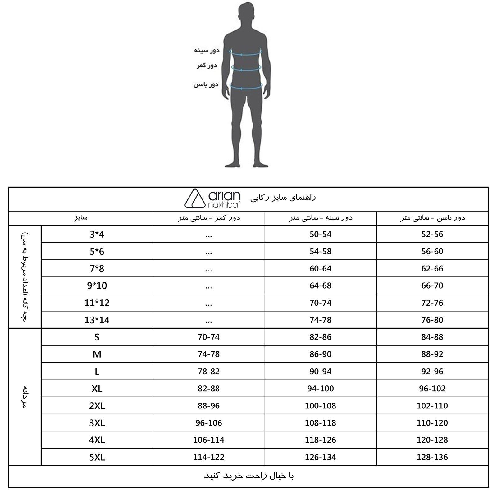 زیرپوش مردانه آریان نخ باف کد 1212 مجموعه 3 عددی main 1 1