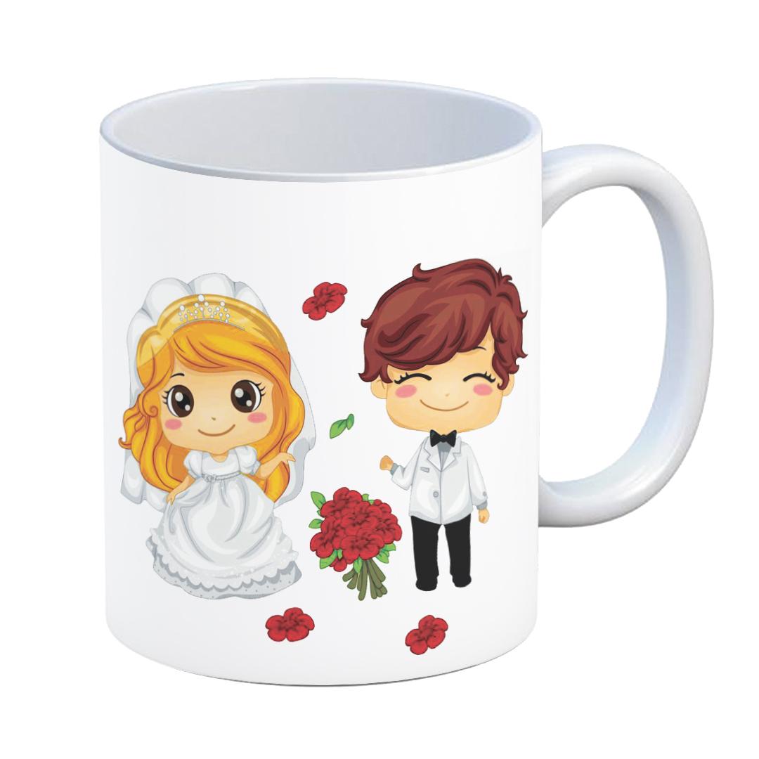 ماگ طرح سالگرد ازدواج کد 02