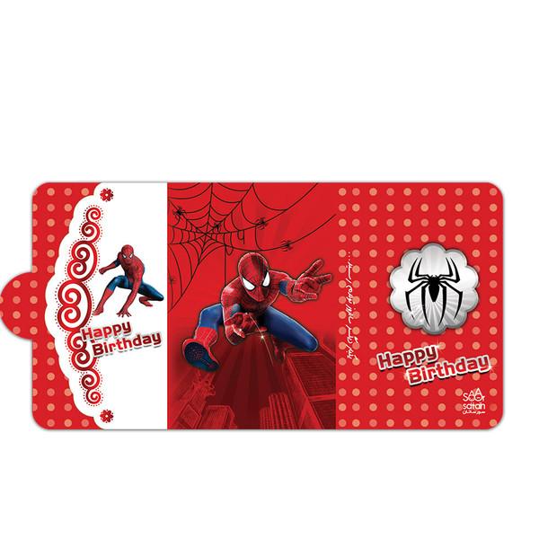 کارت دعوت طرح مرد عنکبوتی بسته 10 عددی