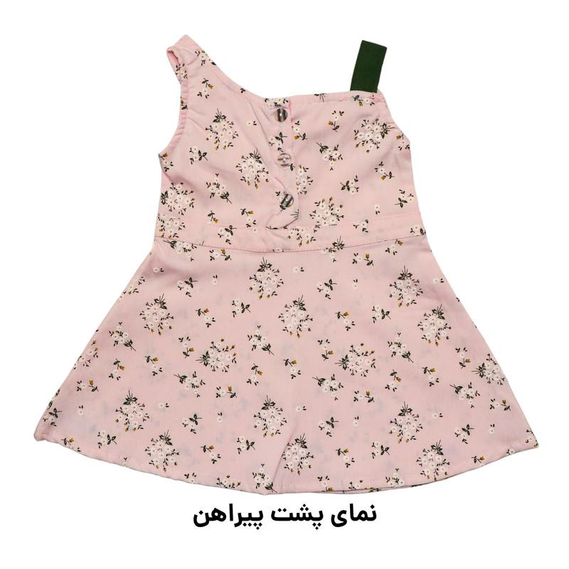ست پیراهن و شلوار دخترانه دندی کد KRN-1036