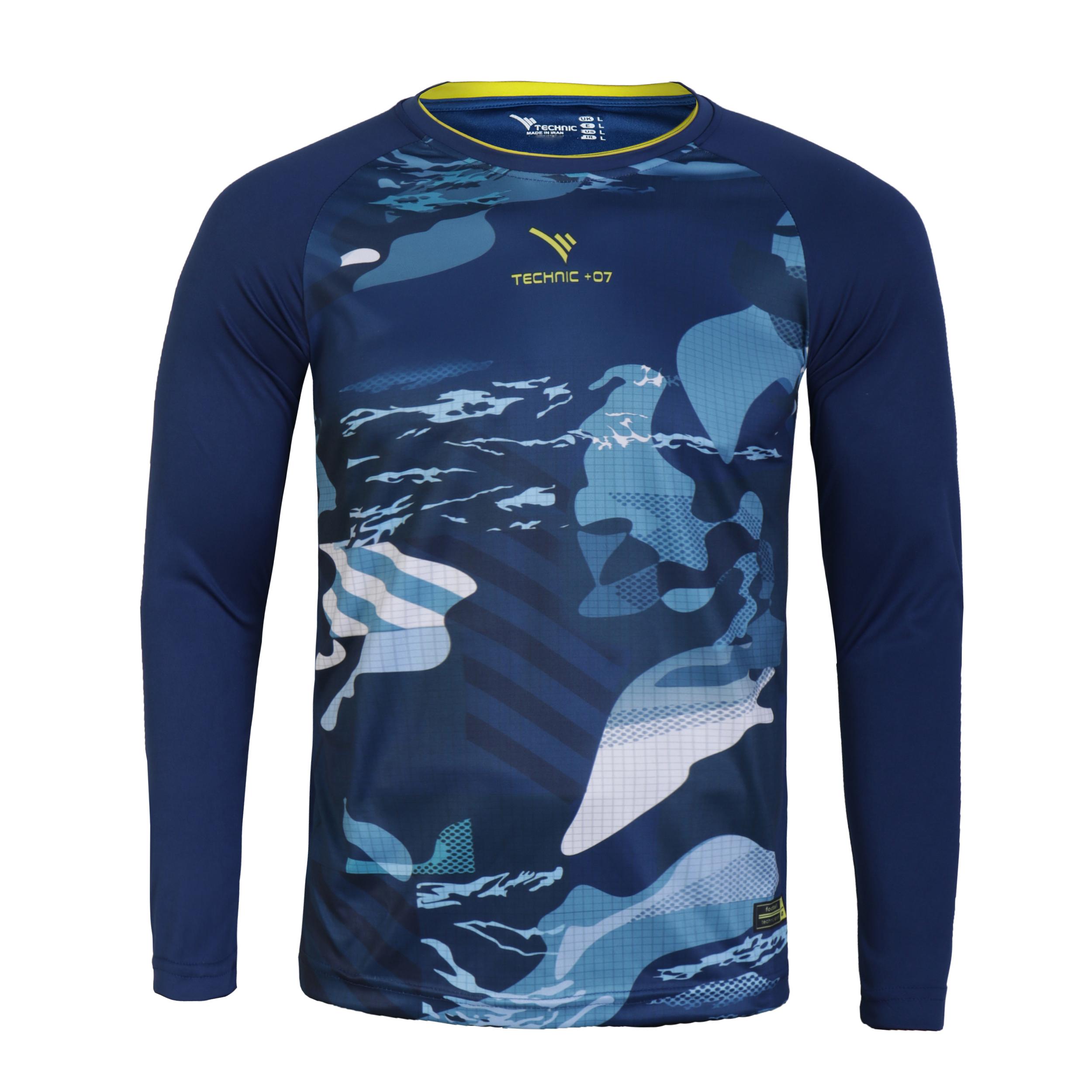 تی شرت ورزشی مردانه تکنیک پلاس 07 کد GO-112-SO