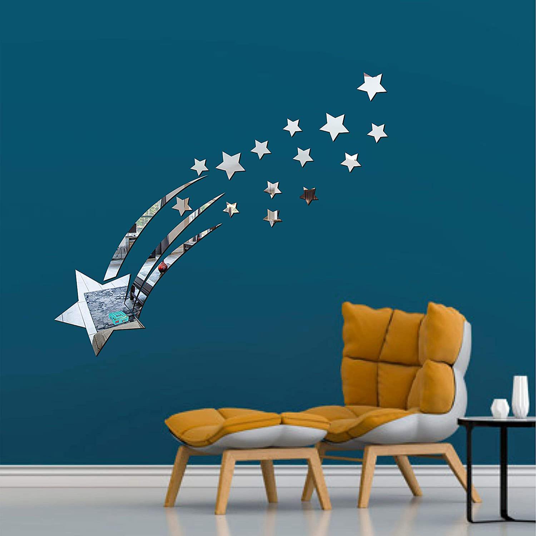 آینه دکوراتیو طرح ستاره باران