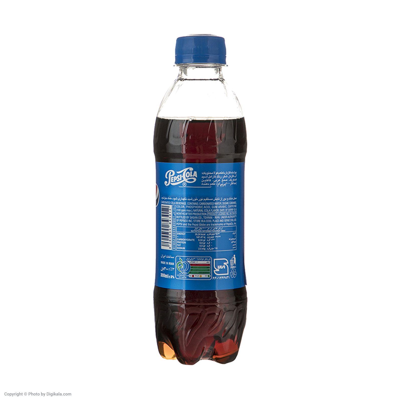 نوشابه گازدار پپسی با طعم کولا - 300 میلی لیتر بسته 24 عددی main 1 3