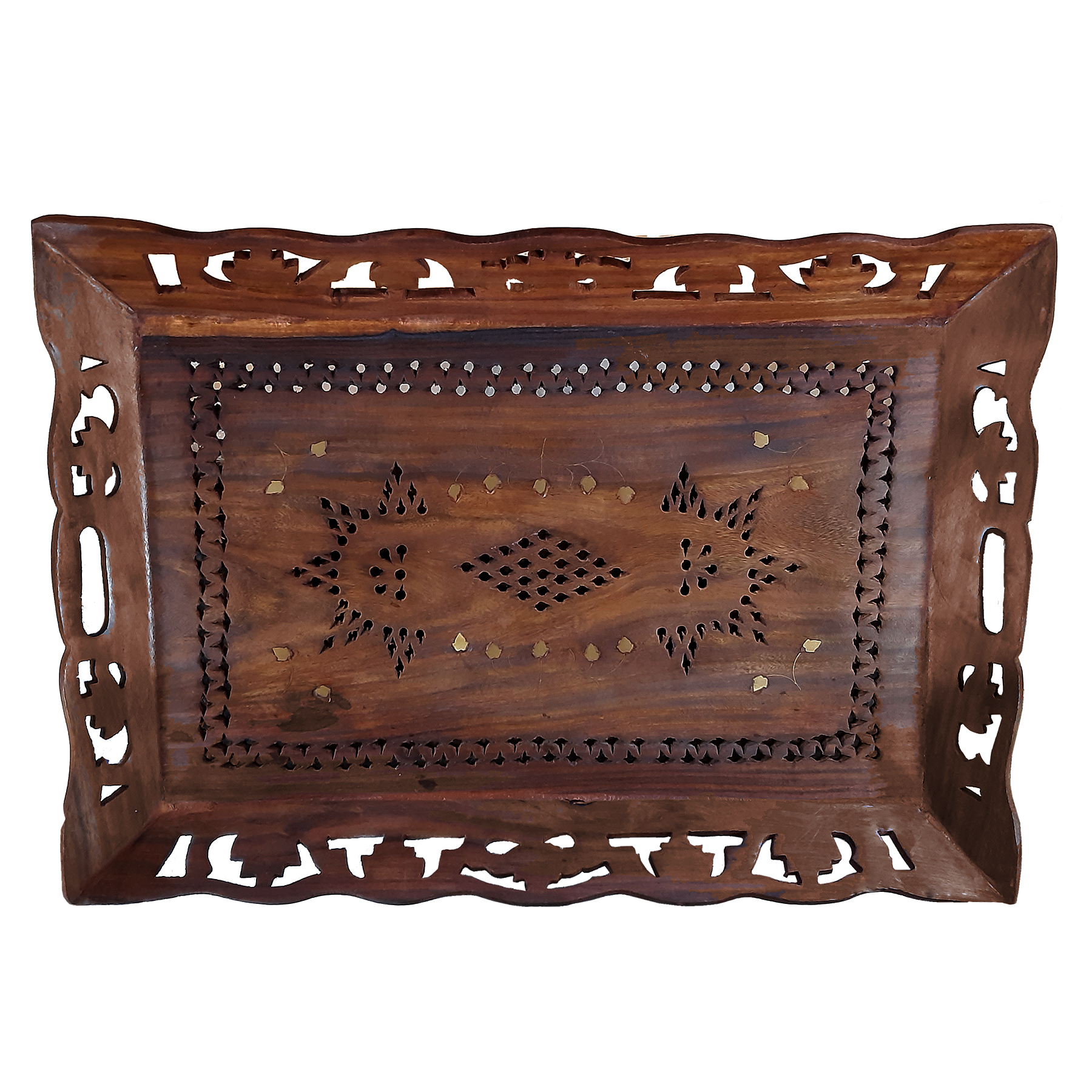 Handmade decorative wooden carving tray, HF-4430 MODEL