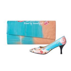 ست کیف و کفش زنانه جاویا طرح آلاله کد J1616